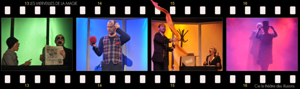 LES MERVEILLES DE LA MAGIE – Dès 3 ans  -Tout public  50 mn  CieThéatre des Illusions