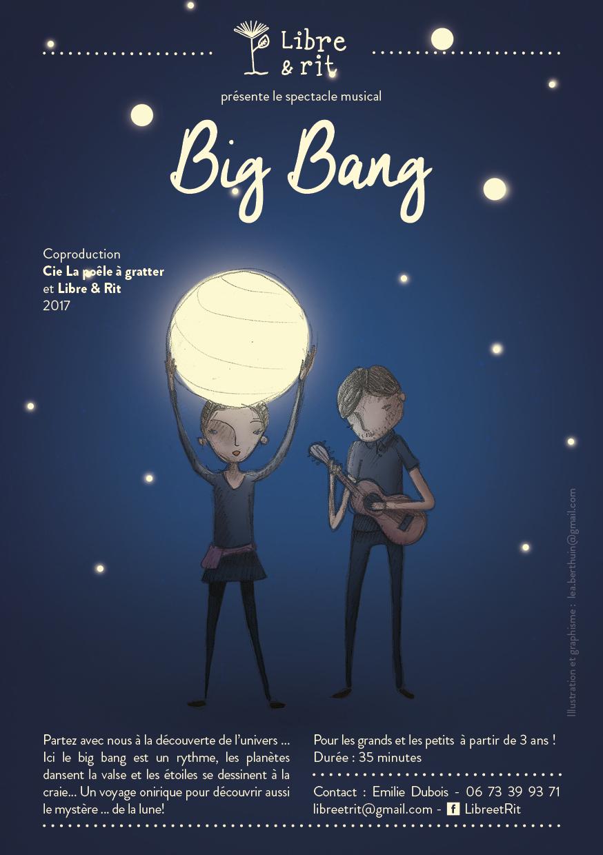 Big bang le mystère des étoiles - dès 3 ans  50 mn cie -La poêle a gratter