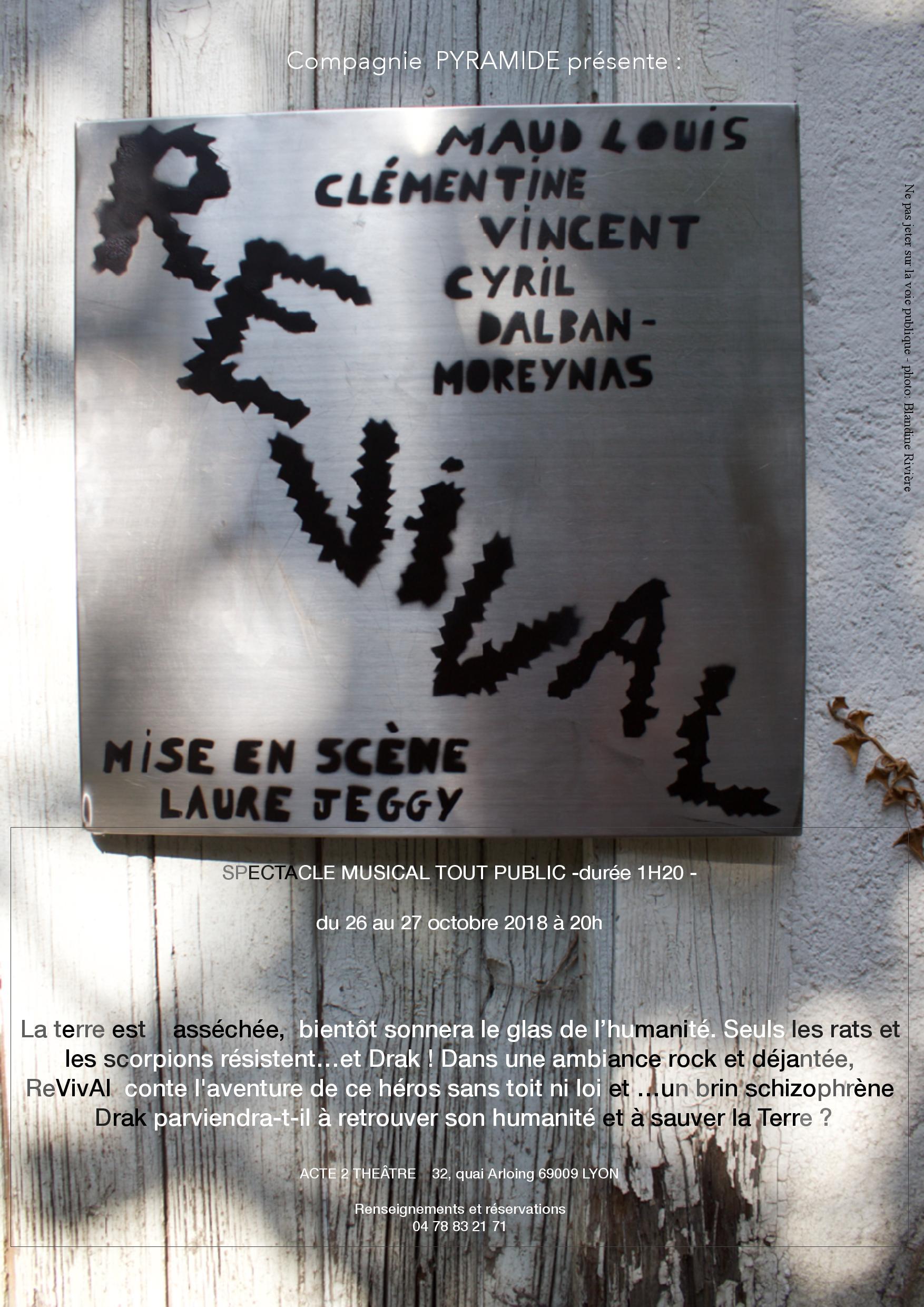 reVivAl - spectacle musical tout public  -1h20 - Cie pyramide