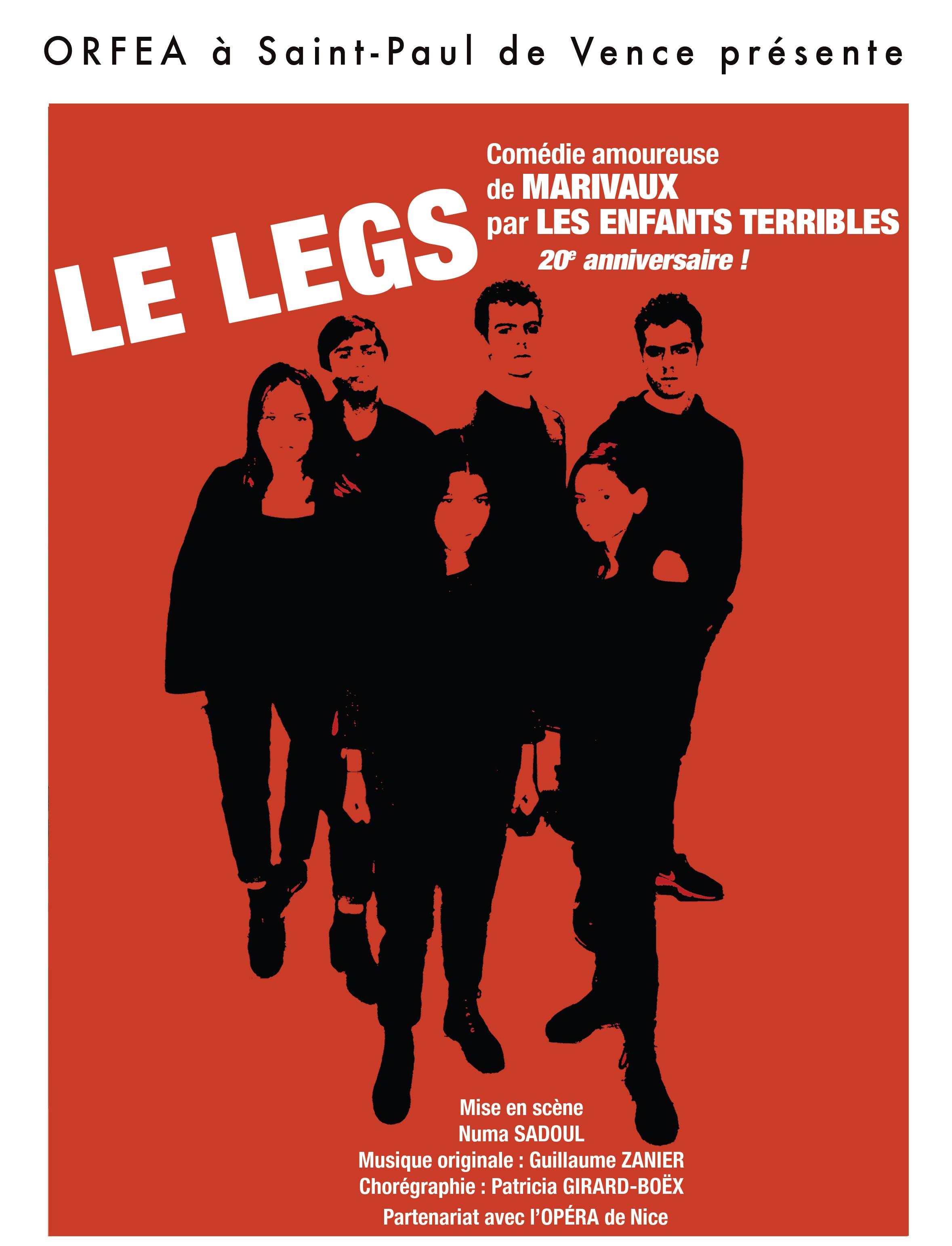 LE LEGS  COMEDIE  DE MARIVAUX -LA TROUPE  LES ENFANTS TERRIBLES  1 h 15