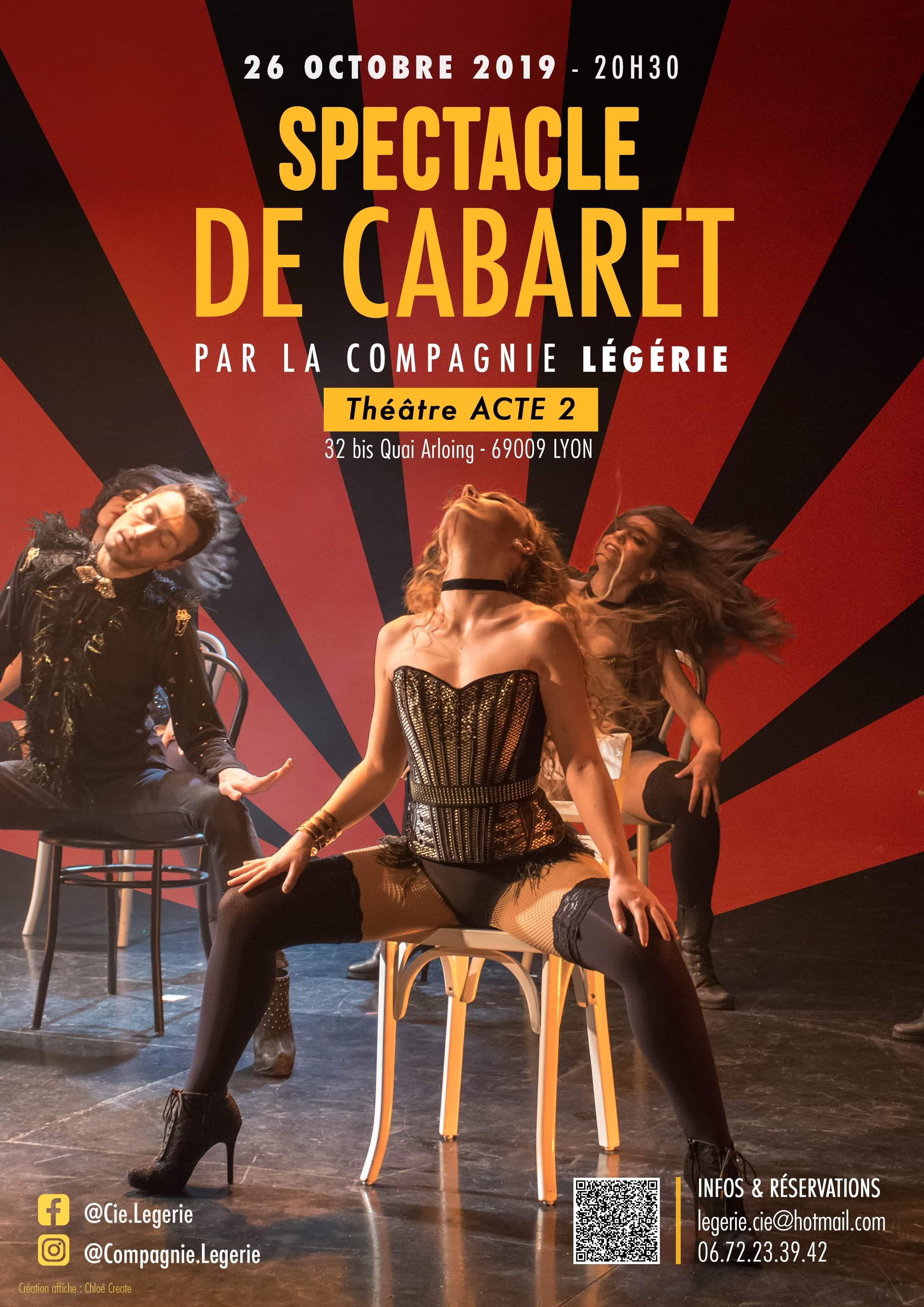 SPECTACLE DE CABARET  - COMPAGNIE EGERIE